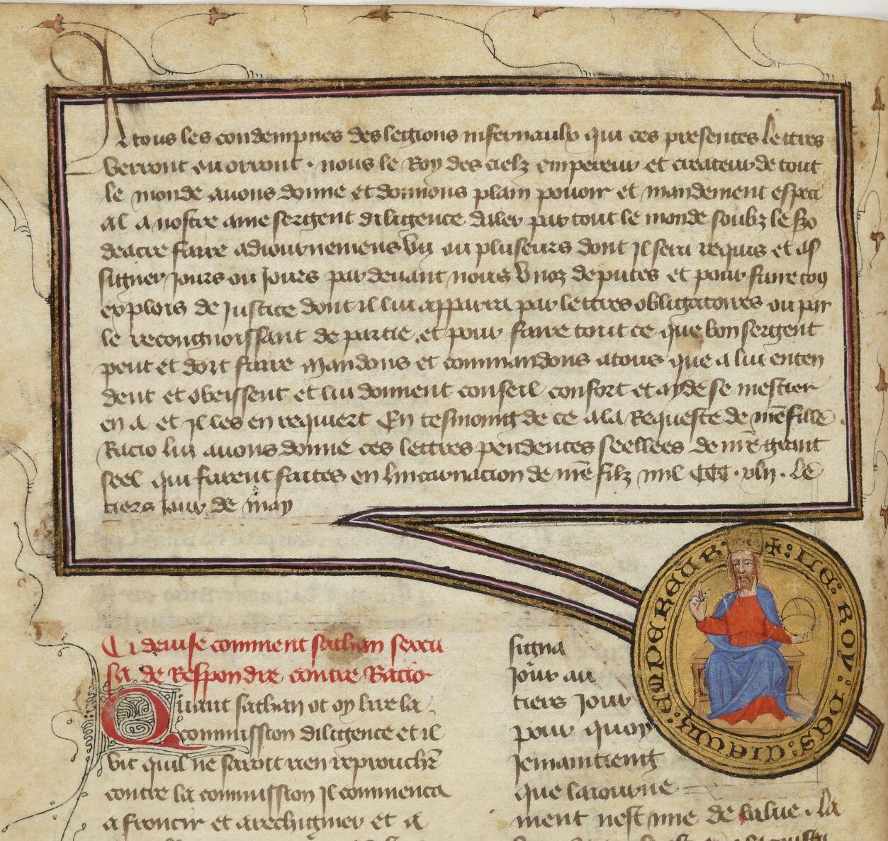 « Le Livre du roy Modus et de la royne Racio, qui parle des deduis et de pestilence ».