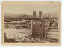 3 phot. de la crue de l'Ardèche du 22 septembre 1890 à Vallon et au Pont-d'Arc, don Albert Souche en 1891