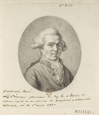 Marcellin René Bérenger : procureur du Roy En l'Election de valence, deputé de la province de Dauphiné à L'assemblée nationale, né Le 1.er avril 1744 : [dessin] / [non identifié]