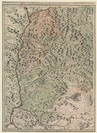 Le Valentinois, le Diois et les Baronnies, dans le Dauphiné, le Comtat Venaiscin et la Principauté d'Orange / par le Sr Iaillot