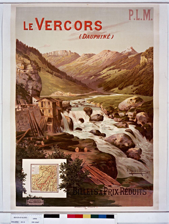 P.L.M. Le Vercors (Dauphiné). Billets à prix réduits.