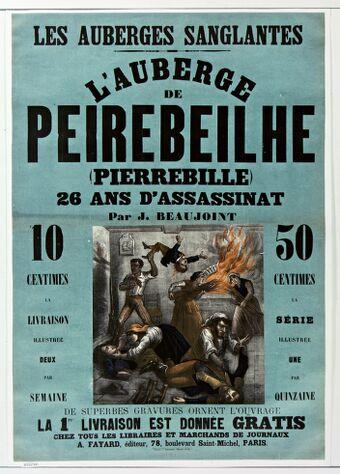Les Auberges sanglantes L'Auberge de Peirebeilhe (Pierrebille) par J. Beaujoint : [affiche] / [non identifié]
