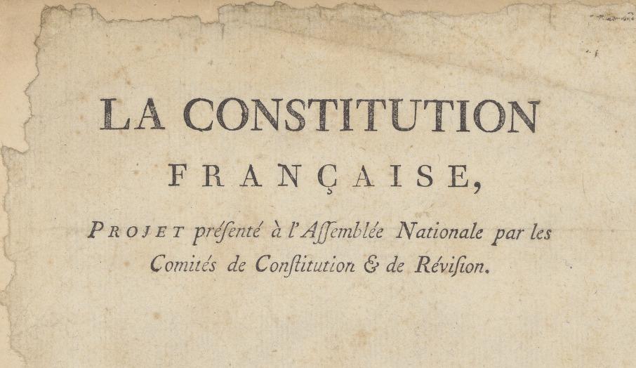 Projet de constitution française de 1791 annoté par Robespierre