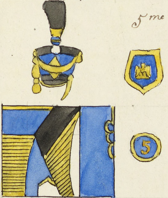 Uniforme 5e Hussards, 1808