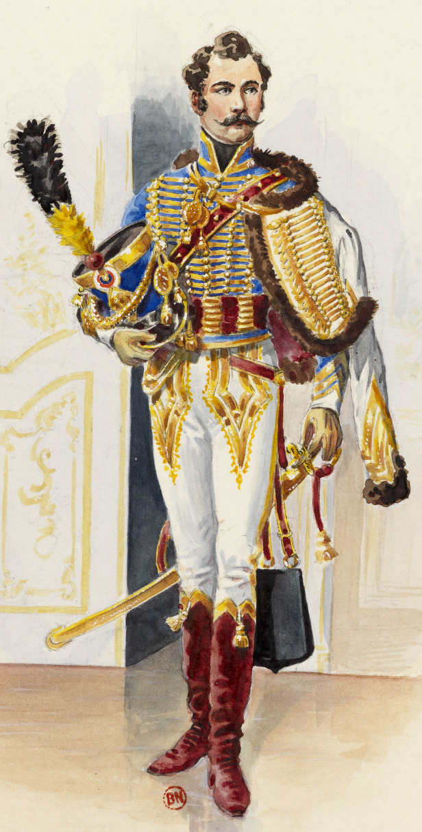 Officier, 5e Hussards, tenue de gala, 1807