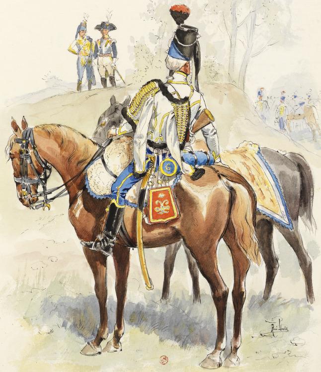 Hussard du 5e Hussards (6e ex Lauzun), 1791