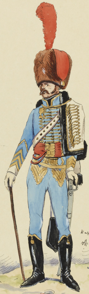 Officier 5e Hussards, 1808