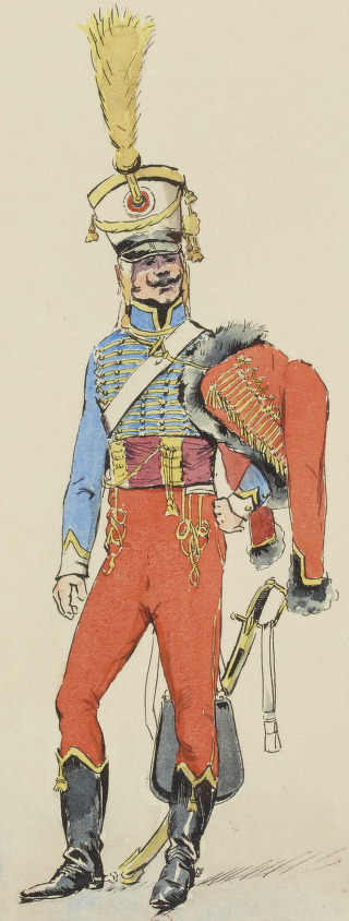 Trompette, 5e Hussards, 1803
