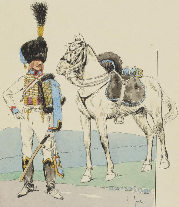 Trompette 5e Hussards, 1809