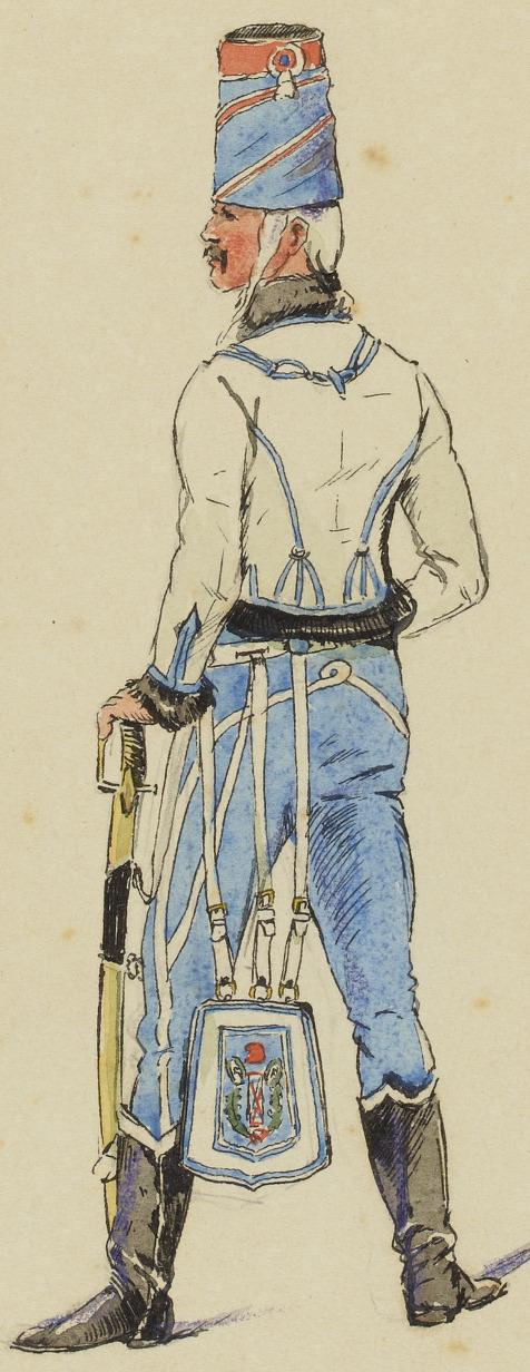 Trompette, 5e Hussards, vers 1792