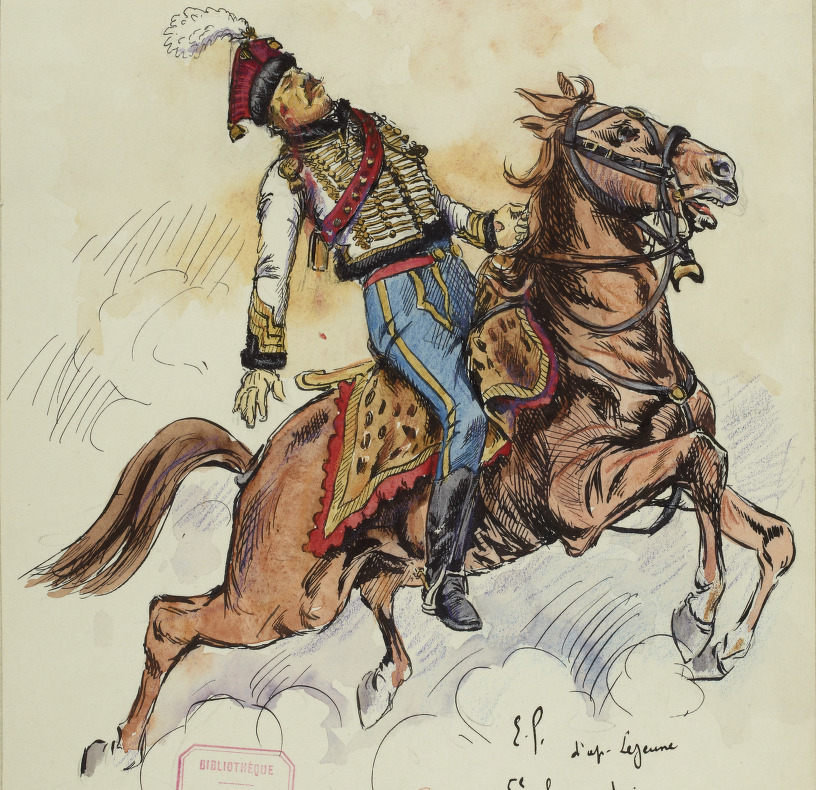 Officier 5e Hussards, vers 1807