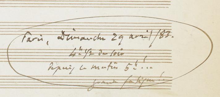 Manon // poème de H. Meilhac // et Philippe GiIle (manuscrit autographe)