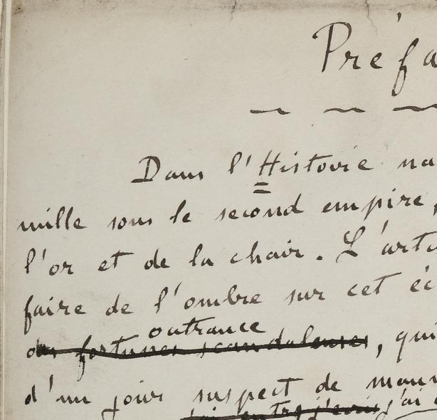 Émile Zola. Œuvres. Manuscrits et dossiers préparatoires. Les Rougon-Macquart. La Curée. La Curée. Manuscrit autographe.