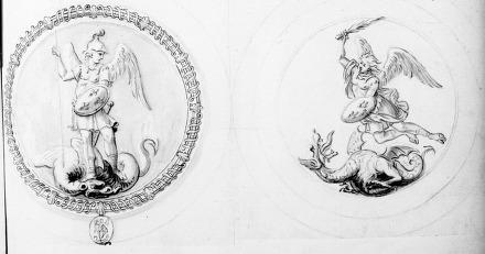 Recueil de pièces originales et de copies concernant la Chevalerie, l'histoire des divers Ordres français et étrangers, spécialement l'Ordre de Saint-Michel, et les armoiries. VI Ordre de Saint-Michel (pièces de 1668 à 1729)